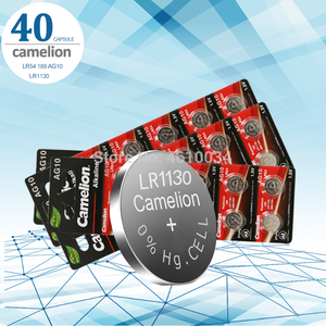 Camelion 40 шт./лот 1,5 V AG10 LR1130 щелочные батареи AG10 389 LR54 SR54 SR1130W 189 LR1130 кнопочные батареи