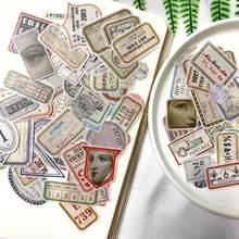 100PCS Vintage Washi Label Sticker DIY scrapbooking junk journal bottom collage diary happy plan gift sealing decoration sticker