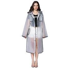 Capa de lluvia transparente para mujer, Impermeable largo de talla grande con capucha, gabardina Impermeable para hombre, Poncho para senderismo y acampada