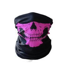 Trendy Skull Printed Men Outdoor Camping Skiing Bike Bicycle Cycling Neck Face Mask Half Face Sport Military Game Face Masks(China)