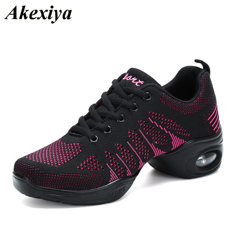 2019 Fashion Soft Outsole Sports Feature Dance Shoes For Woman Modern Jazz Dance Sneakers Girls Fitness Practice Dancing Shoes