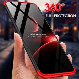3 в 1 360 жесткий пластиковый телефон чехол для Xiaomi Redmi Note 8 7 5 6 iPad Pro Redmi 7A 7 6A K20 Pro закаленное стекло чехол матовый чехлы чехол на для Сяоми ксиоми ...