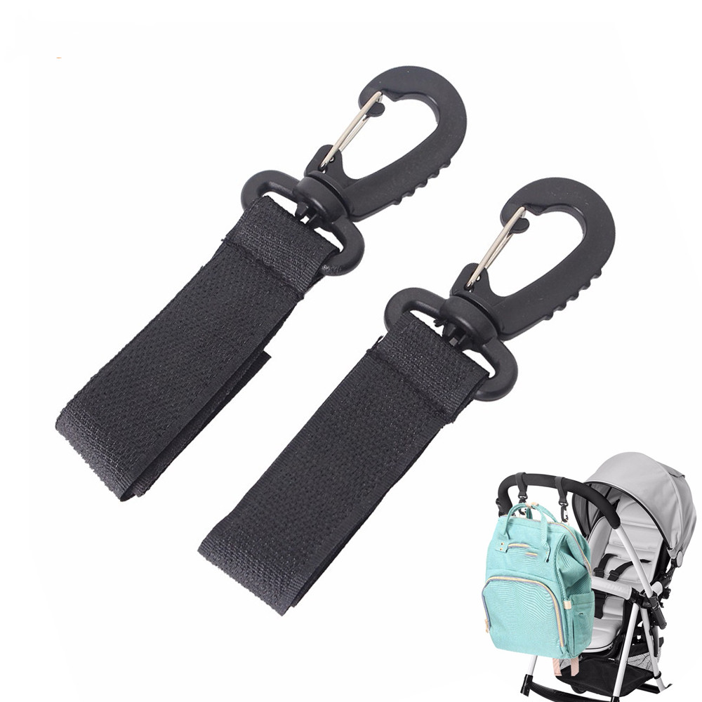 2pcs Baby Stroller Hooks Mummy Bag Hanger Hook Kids Cart Buggy Pushchair Shopping Bag Hanging Clips Stroller Accessories