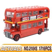 The London Bus LegoEES 10258 Creator Technic Motor Car 41999 Crawler Exclusive Edition Model Building Kit Block Bricks Kids Toys