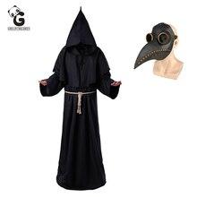 Plague Arts Kostuums Voor Mannen Monnik Cosplay Plague Arts Maske Steampunk Gewaad Priester Horror Wizard Halloween Heks Jurk Vrouwen