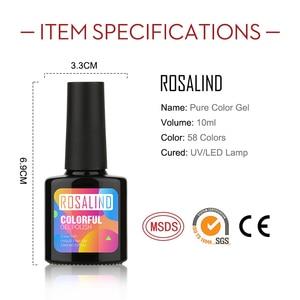 (Выбрать 10)ROSALIND 10 мл набор гель-лаков для ногтей свежий цвет впитать УФ ногтей Маникюр грунтовка ногтей гель лак Набор Для лаков