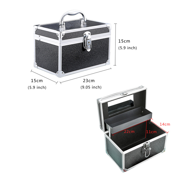 Makeup Bag Suitcase Women Multifunction Travel Cosmetic Bag Neceser Professional Beauty Nail Art Tool Cosmetic Storage Bags Case 3