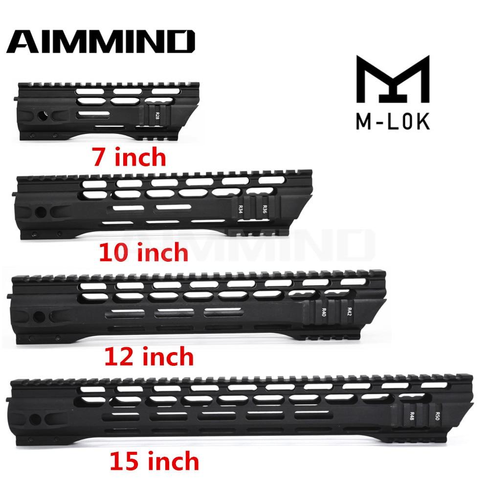 7 10 12 15 Inch AEG M4 M16 AR15 Free Float M-Lock Quad Rail Handguard Picatinny Rail with Barrel Nut for Hunting(China)