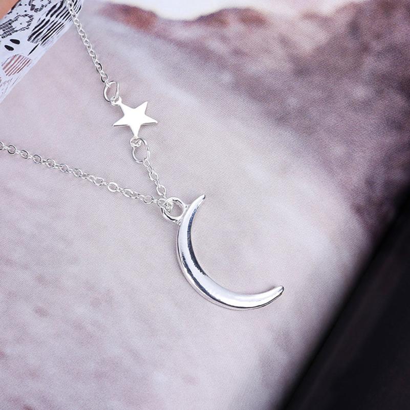 Retro Art Crescent Head Necklace Pendant Jewelry Fancinating Jewelries Choker Necklace Stylish Romantic Valentine's Gift Choker