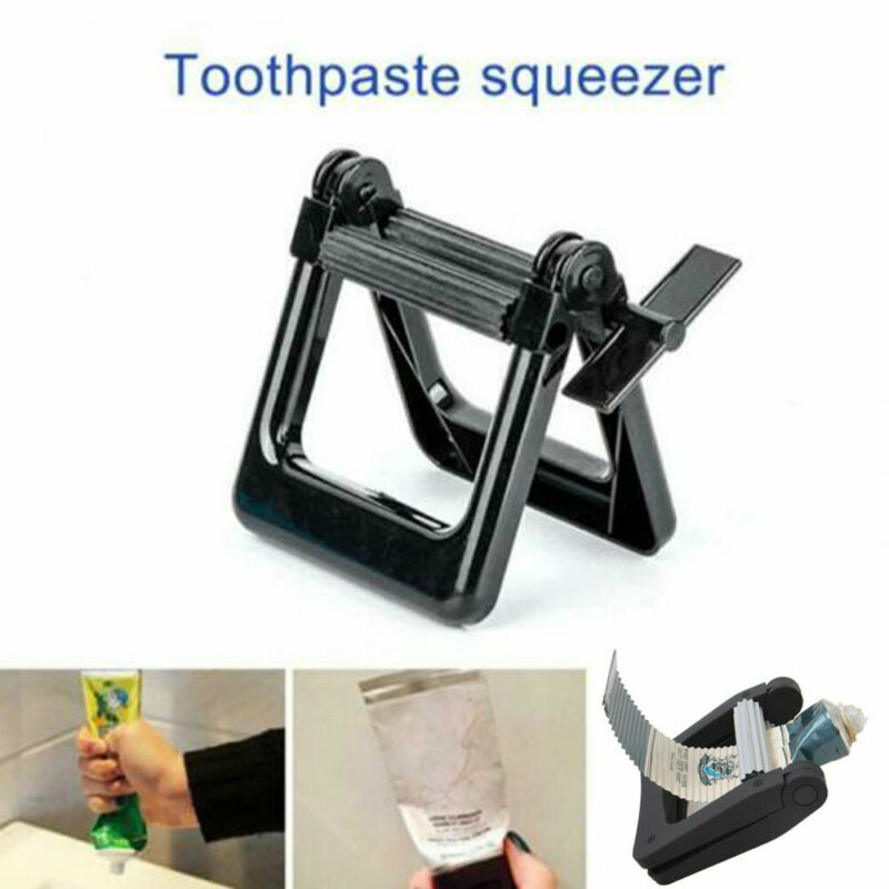 ลูกกลิ้งโลหะ Tooth Paste Squeezer Tube Squeezing Dispenser ห้องน้ำอุปกรณ์เสริมผมหลอด Rolling Squeezer เครื่องมือ