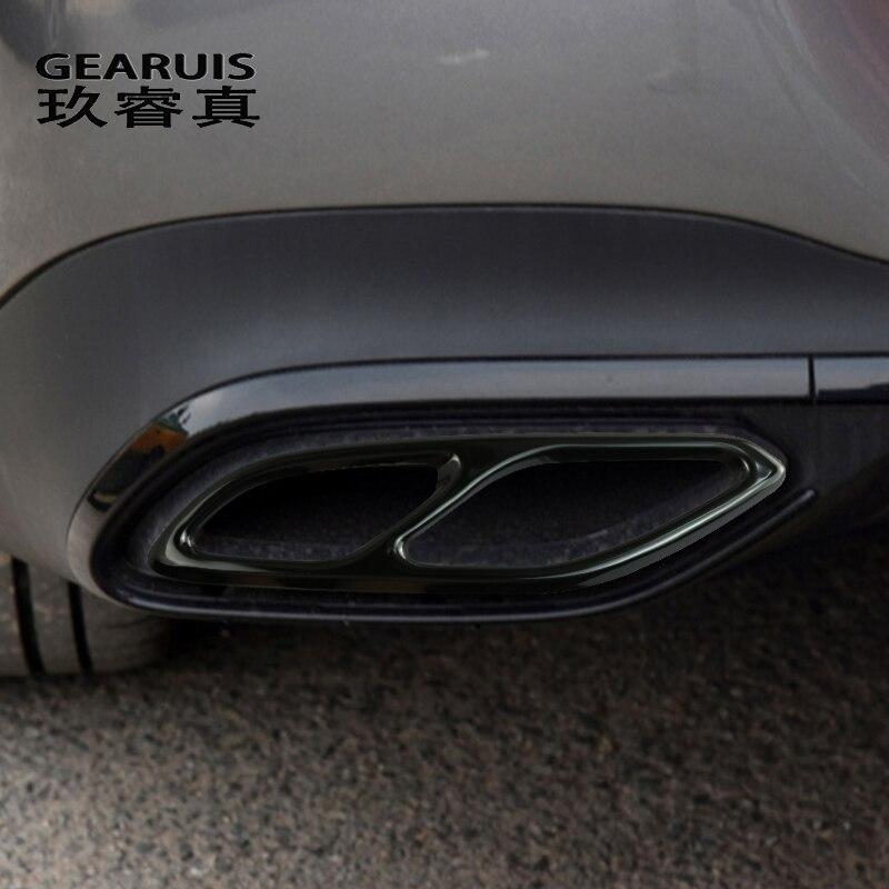 Автомобильные аксессуары, выхлопная труба, задняя крышка, отделка для Mercedes CLA Class C118 W118 2020, украшение для стайлинга, автомобильные наклейки и ...