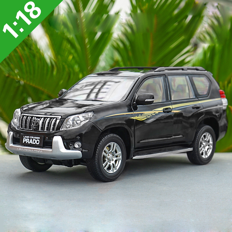 1:18 Toyota PRADO Alloy Model Car Static Metal Model Vehicles Original Box For Gifts Collection