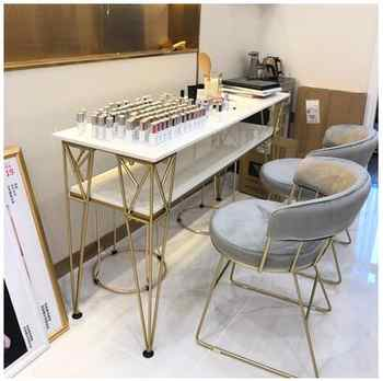 Nordic nail table and chair set combination nail table double-layer single-person manicure table modern simplicity - DISCOUNT ITEM  26 OFF Furniture