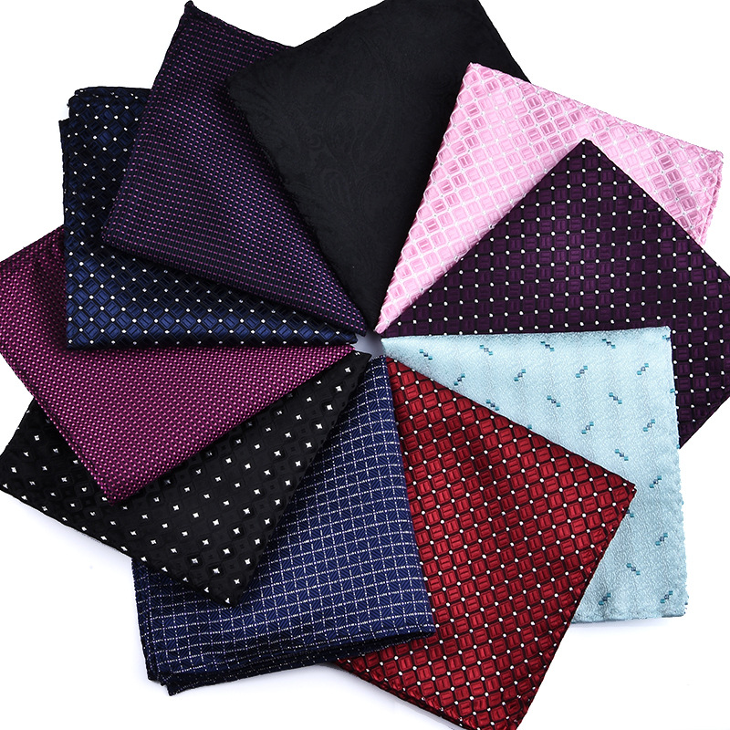 Luxury 22*22CM Men's Vintage Geometric Floral SilkPocket Square  Handkerchief Fashion Men Hanky Wedding Party Chest Towel