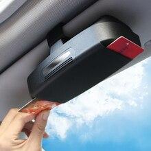 Многофункциональный автомобильный зажим для очков зажим для билетов, карточек ABS автомобильные чехлы для очков автомобильный солнцезащитный козырек держатель солнцезащитных очков аксессуары