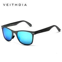 Мужские солнцезащитные очки VEITHDIA, модные зеркальные очки из алюминиево-магниевого сплава с поляризационными стеклами, для женщин/мужчин