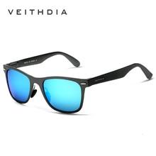 VEITHDIA الألومنيوم المغنيسيوم موضة الرجال مرآة نظارات شمسية حملق نظارات الإناث/الذكور اكسسوارات النظارات الشمسية للنساء/الرجال
