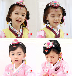 South Korea Imported Hair Accessories South Korean Clothing Hand Embroidered Headband Children's Hairpin Girls Hair Accessories