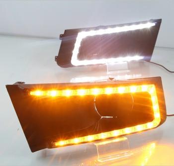 2pcs for SUZUKI Vitara brezza 2015 - 2017 LED DRL Daytime Running Lights Daylight with yellow turn signal Styling light
