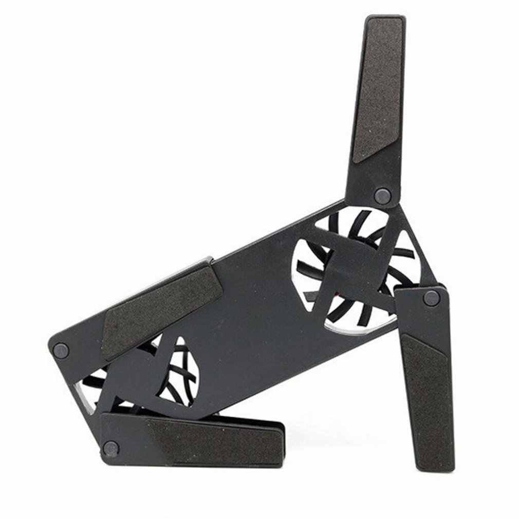 USB Cooling Fan Convenient Notebook Cooler Cooling Pad Stand Double Fans for Notebook Laptop
