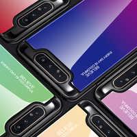 Hacrin Fall Für Samsung Galaxy A80 Fall Weiche Kante TPU Gradienten Gehärtetem Glas Stoßstange Harte Rückseitige Abdeckung Für Samsung A80 EINE 80 Fall