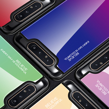 Hacrin Case For Samsung Galaxy A80 Soft Edge TPU Gradient Tempered Glass Bumper Hard Back Cover A 80