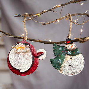 Christmas Tree Ornaments Hanging Pendants Snowman Santa Claus Angel Xmas Embellishment Drop Ornaments New Year Party Supplies