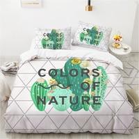 Set biancheria da letto king size copripiumino biancheria da letto matrimoniale 2 sp 240*220 queen nordic covers per letto di 150 cactus bianco pieno doppio