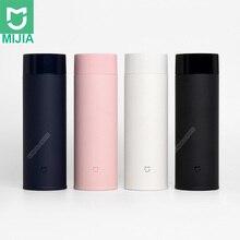 Xiaomi Mijia 350ml paslanmaz çelik su şişesi hafif termos vakum mini fincan kamp seyahat taşınabilir yalıtımlı fincan spor