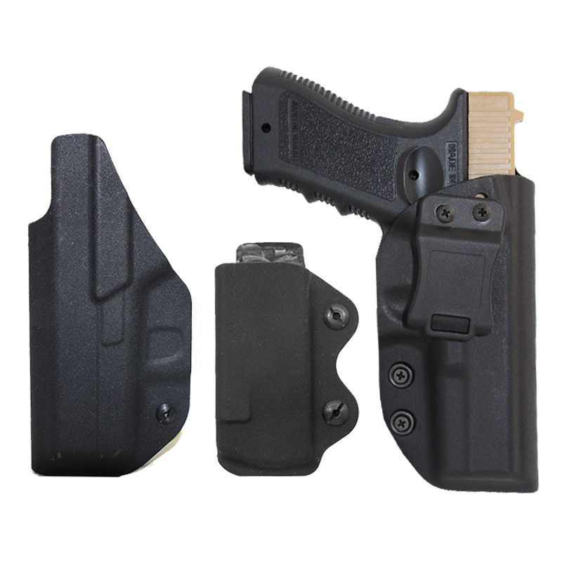 Military IWB Kydex Gun Holster For Glock 17 22 31 43 43x Airsoft Tactical Concealed Pistol Case Mag Pouch Gun Carry Belt Holster