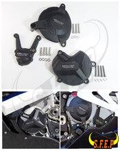 BMW S1000RR 및 S1000R 용 오토바이 엔진 케이스 가드 보호대 커버 GB 레이싱 2009 10 11 12 13 14 15 2016 Black