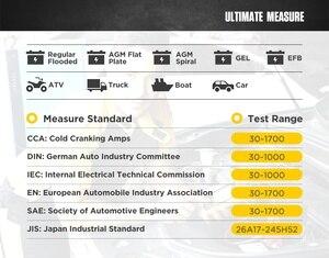 Image 4 - AUTOOL BT460 Car Battery Tester Digital Analysis Instruments CCA AGM GEL Auto Battery Analyzer 12V 24V Diagnostic Tool For Truck