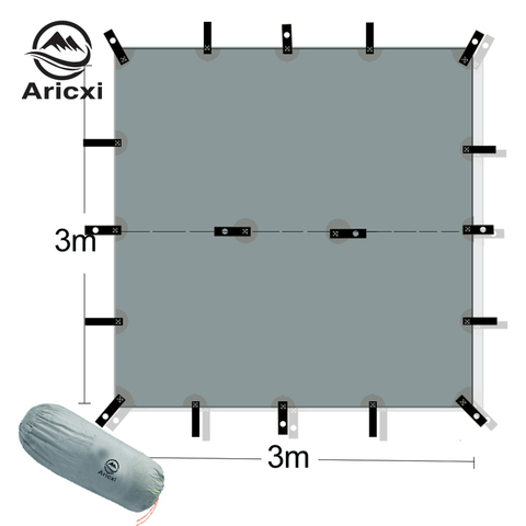 aricxi 15d silicone revestido nailon ultra leve lona toldo ao ar livre de pouco peso