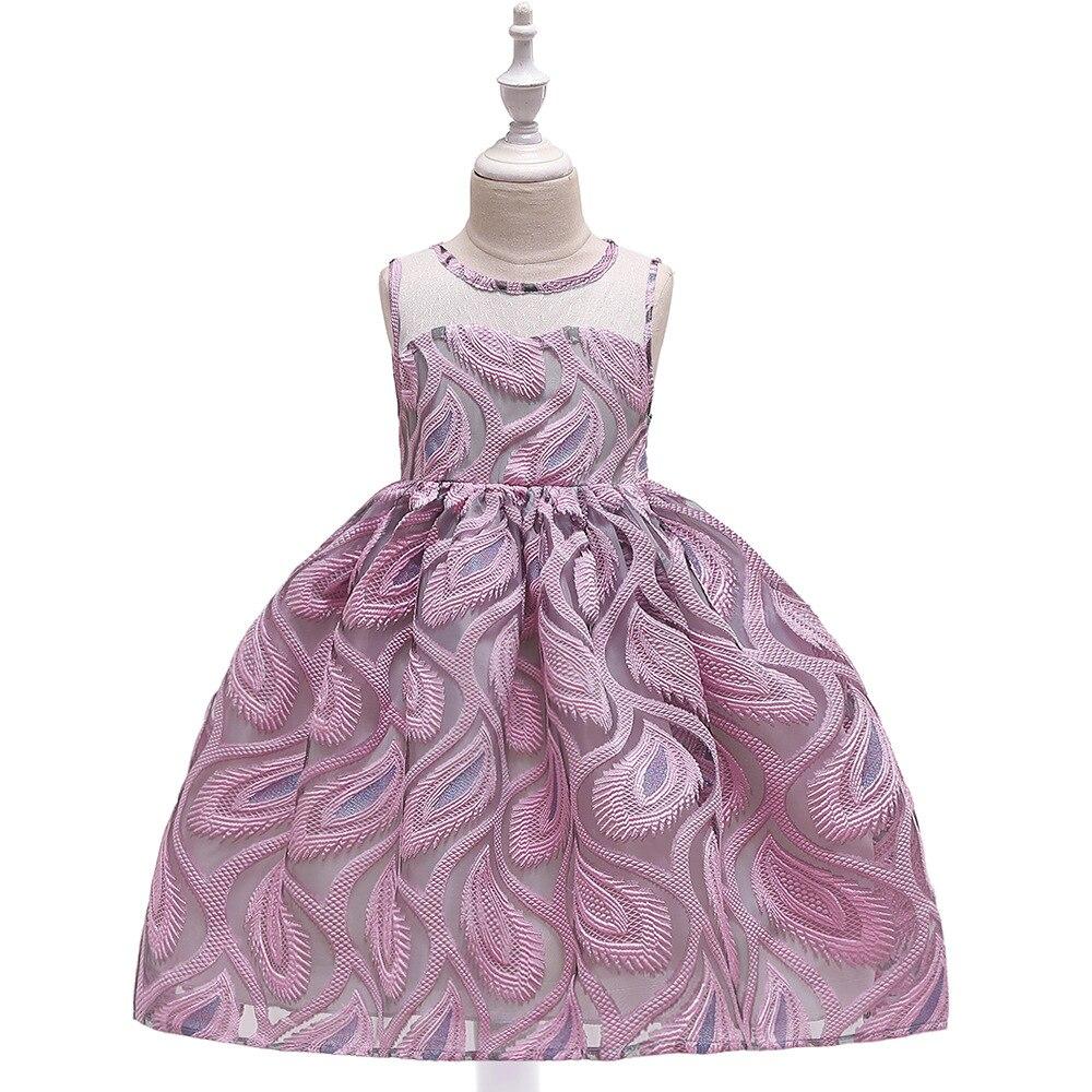 3-8T Cute Puffy   Flower     Girl     Dress   Elegant Princess Floor Length Lace   Flower     Girl     Dresses