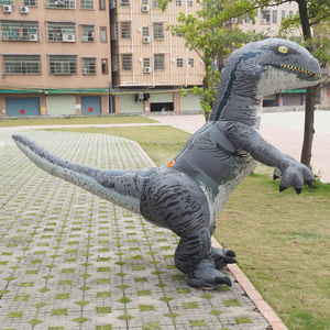 Image 4 - Men T REX Inflatable Dinosaur Costume Adult Anime Cospaly t rex Mascot Costume Adultos Halloween Dinosaur Costume for Kids Women