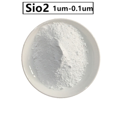 99.9% Purity hydrophobic silica oxide sio2 powder untrafine 1um  microparticle silicon dioxide powder for additives, coating etc