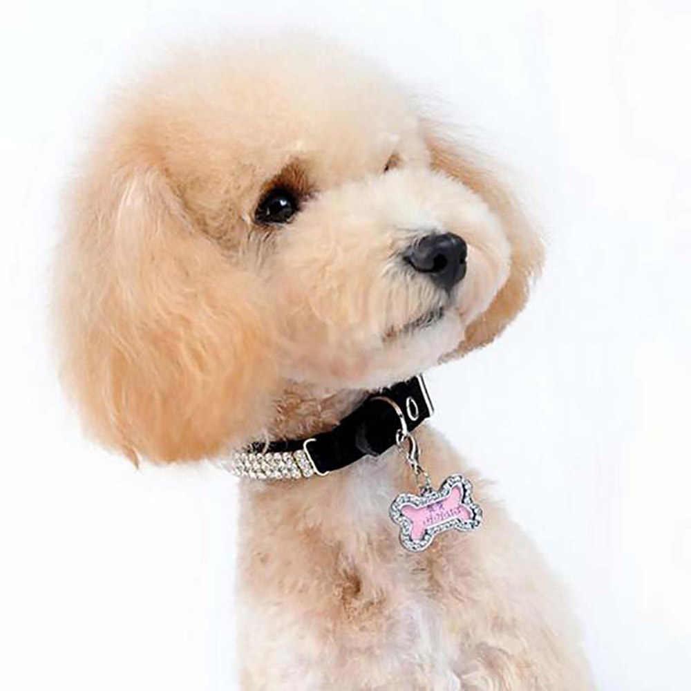 1 pcs Regalo Personalizzato Dog Tags Inciso Cucciolo di Gatto Pet ID Nome Tag Collare Del Pendente Anti-Perso Pet Carta accessori di Vendita Calda di Nuovo