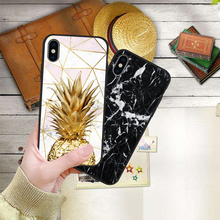 Luxury Marble Granite Stone Texture Case For iPhone 7 case X XS XR MAX 8 6 6S Plus 5 5s SE Etui Coque Black Soft Silicone