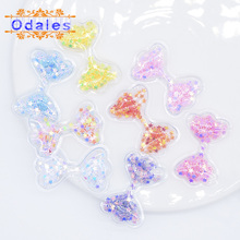 32Pcs/lots Mini Cute Bow Tie Shake Sequins Flowing Patches Appliques for DIY Kids Baby Hair Clips Headdress Hat Accessory