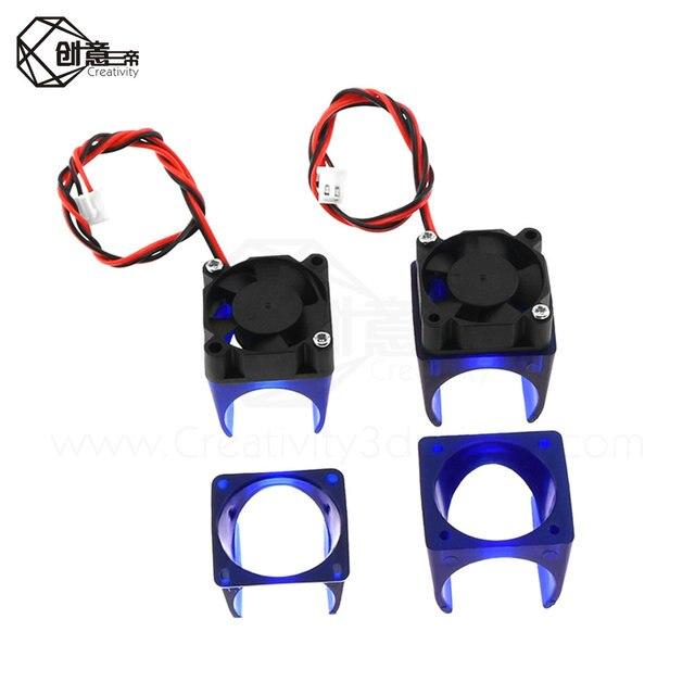 1PC V5 V6 wentylator z uchwytem do drukarki 3D wentylator chłodnicy z 30mm * 30mm * 10mm niebieski wsparcie pokrywa dla drukarki 3D E3D