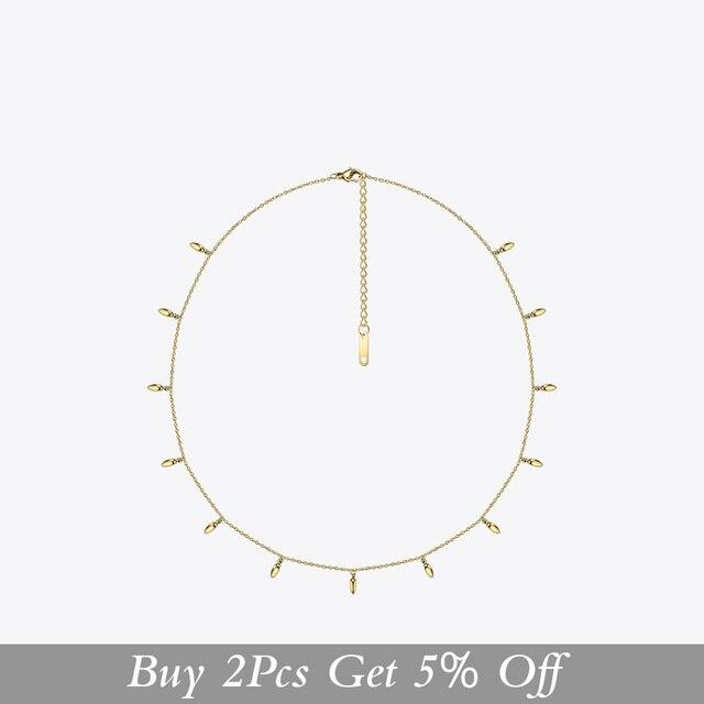 Enfashion Weizen Halsband Halskette Frauen Aussage Pinienkernen Kette Halsketten Gold Farbe Boho Urlaub Schmuck Collier Femme PM193002