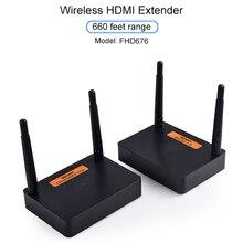 Measy FHD676 5.8GHz/2.4GHz Wireless HDMI Extender Sender Transmitter Full HD 1080p@60Hz 200m Audio Video Transmission Receiver