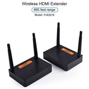 Image 1 - Measy FHD676 5.8Ghz/2.4Ghz Draadloze Hdmi Extender Sender Zender Full Hd 1080P @ 60Hz 200M Audio Video Transmissie Ontvanger
