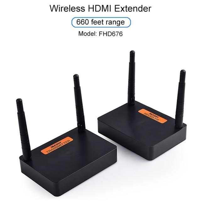 Measy FHD676 5.8Ghz/2.4Ghz Draadloze Hdmi Extender Sender Zender Full Hd 1080P @ 60Hz 200M Audio Video Transmissie Ontvanger