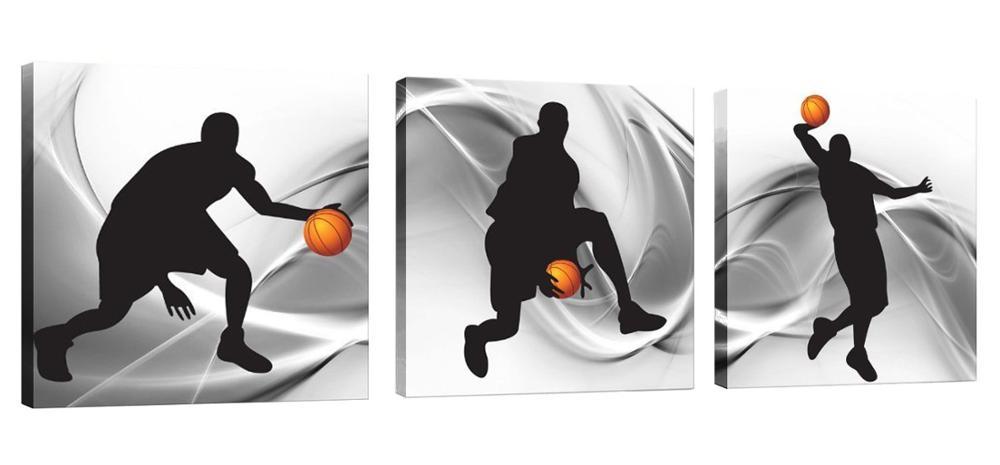 Basket-ball sport thème toile Art mural pour garçons chambre moderne décor à la maison impressions sur toile livraison directe