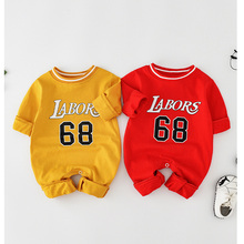 2019 Brand New Fashion Newborn Toddler Infant Baby Boys Romper Long Sleeve Jumpsuit Playsuit Little  Outfits Red or yellow