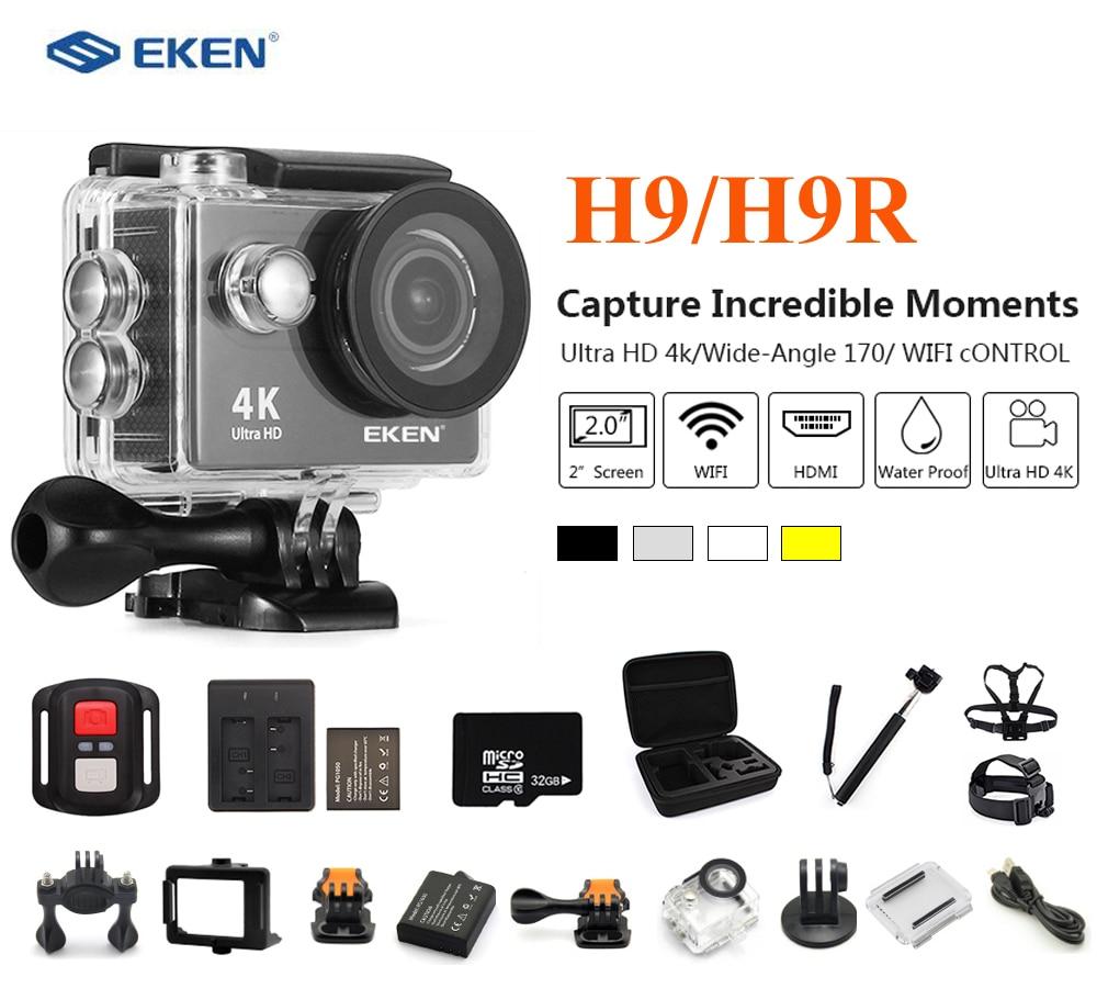 EKEN H9R/H9 caméra d'action Ultra 4K 25fps WiFi 2.0