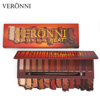 VERONNI 12 Colors Nude Eyeshadow Makeup Pigments Waterproof Professional Shimmer Matte Nude Eye shadow Make up Palette image