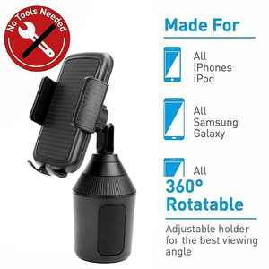 Image 5 - kebidumei 360 Degree Rotatable Car Mount Adjustable Cup Holder Car Mount for Smartphone Mobile Phone Accessories