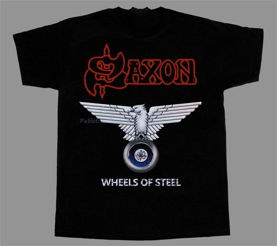 SAXON Rock the Nations MEN BLACK t-shirt BAND MUSIC SAXON clothing unisex SHIRT